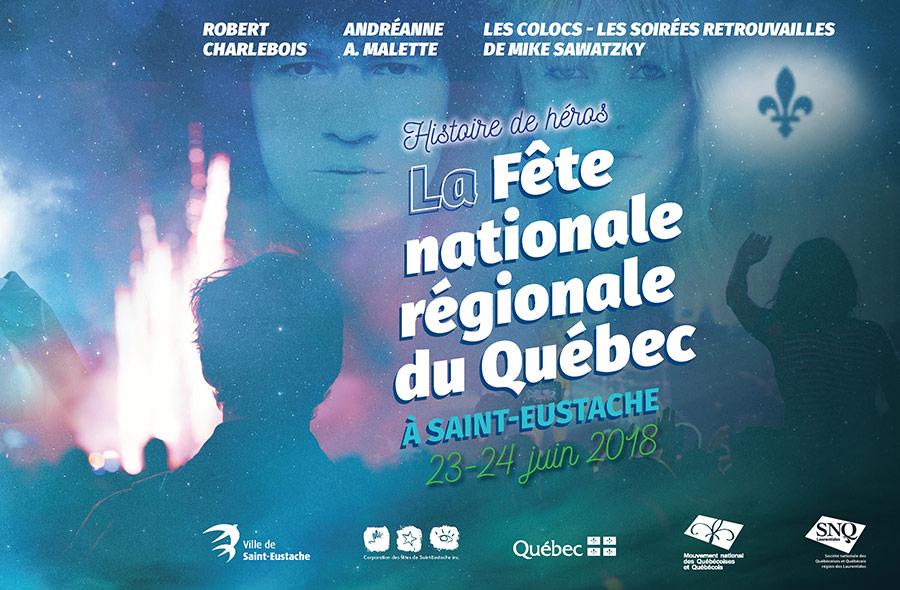 Ville de saint-Eustache - Fête nationale du Québec 2018
