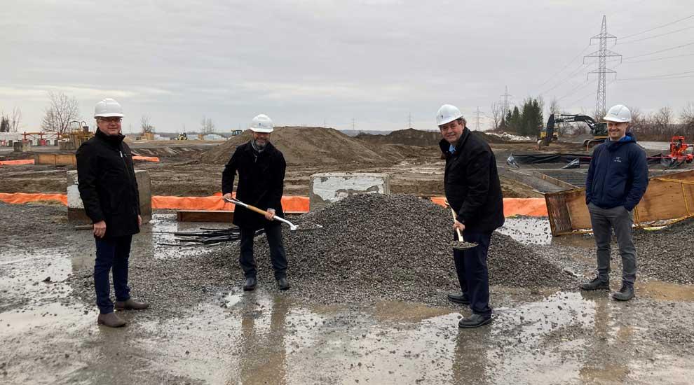 Début de la construction de la toute nouvelle usine de Barrette Structural à Saint-Eustache!
