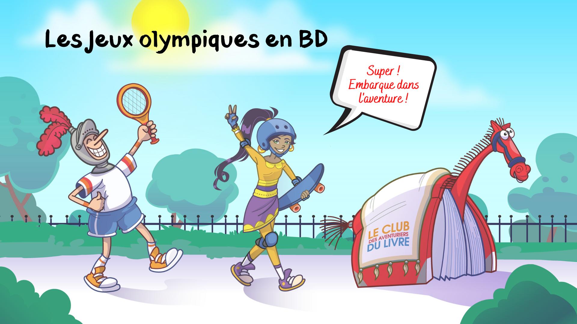 Ville de saint-Eustache - Club des aventuriers du livre: les Jeux olympiques en BD