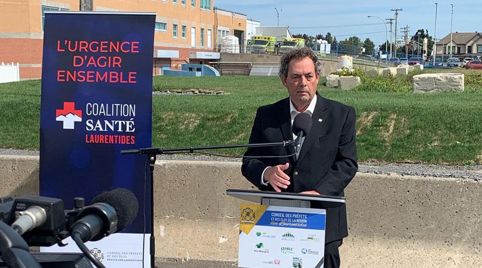 Le maire appuie la Coalition Santé Laurentides qui demande d'urgence la modernisation de l'Hôpital de Saint-Eustache