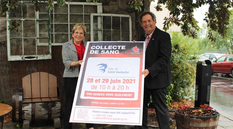 Ville de saint-Eustache - Collecte de sang de la Ville de Saint-Eustache les 28 et 29 juin 2021 - Prenez rendez-vous avec votre bonne action