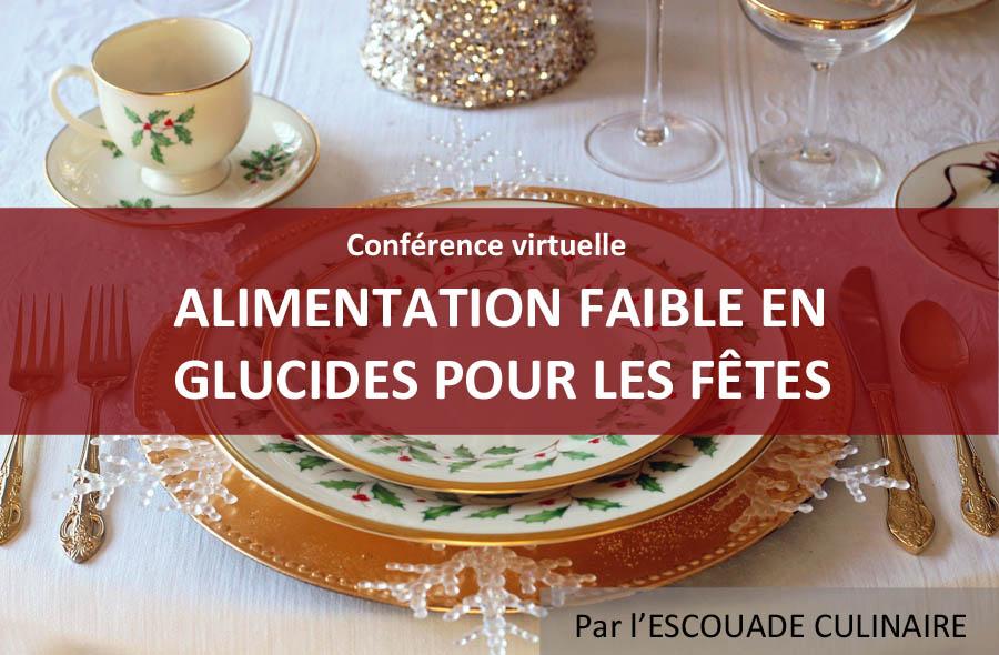Ville de saint-Eustache - Conférence virtuelle : Alimentation faible en glucides pour les Fêtes