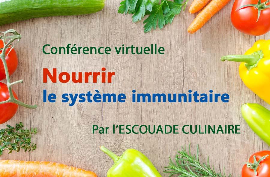 Ville de saint-Eustache - Conférence virtuelle : Nourrir le système immunitaire