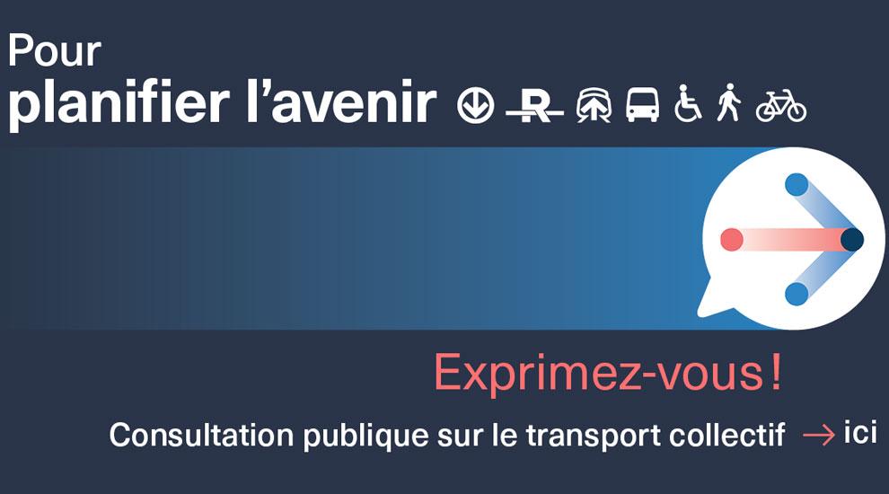 Consultation publique sur l'avenir de la mobilité dans la région métropolitaine de Montréal