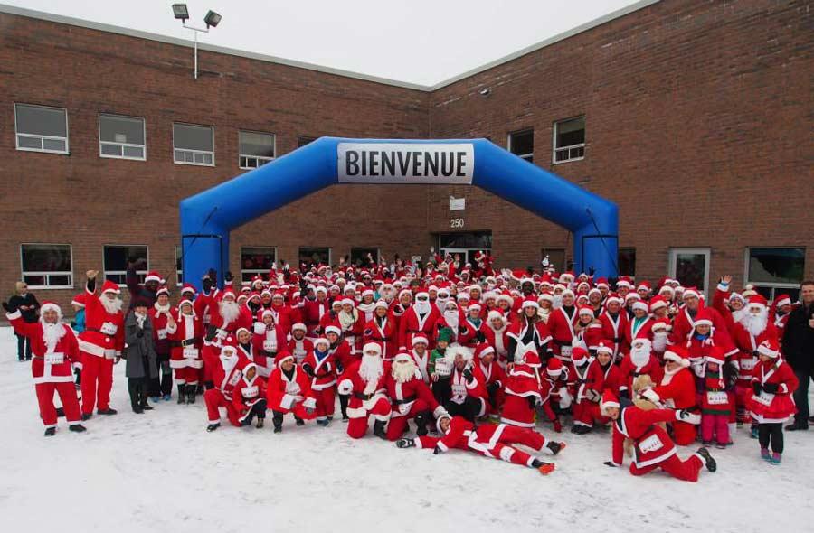 Ville de saint-Eustache - La course des pères Noël au profit de l'AQEM