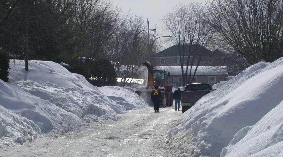 Ville de saint-Eustache - Opérations de déglaçage de rues à compter du lundi 4 février