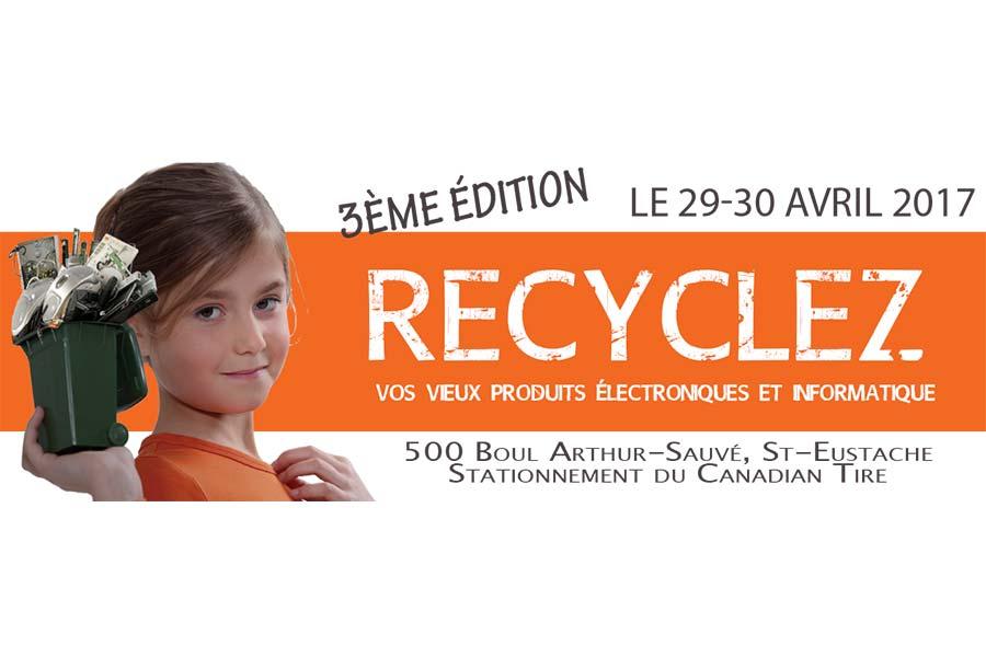 Ville de saint-Eustache - Collecte spéciale de vieux produits électroniques au profit de la Fondation Emile-Z Laviolette