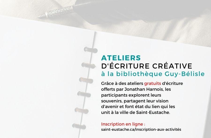 Ville de saint-Eustache - Atelier d'écriture 3 - MARATHON D'ÉCRITURE