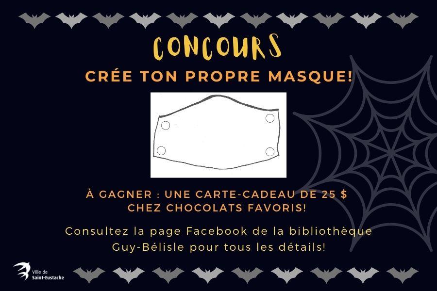 Ville de saint-Eustache - Concours : Crée ton propre masque!