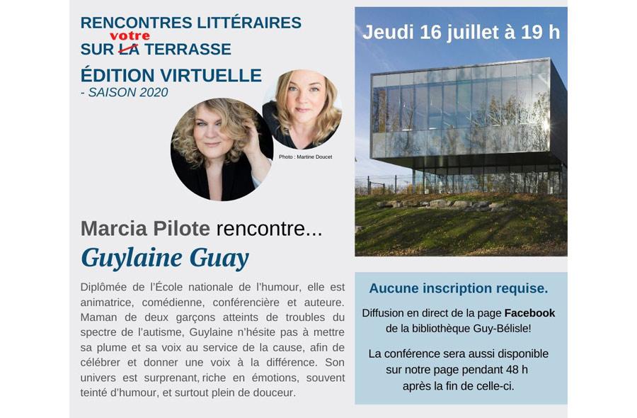 Ville de saint-Eustache - Marcia Pilote rencontre sur la terrasse... Guylaine Guay