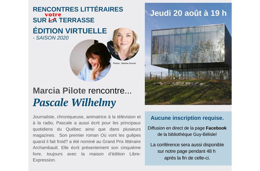 Ville de saint-Eustache - Marcia Pilote rencontre sur la terrasse... Pascale Wilhelmy