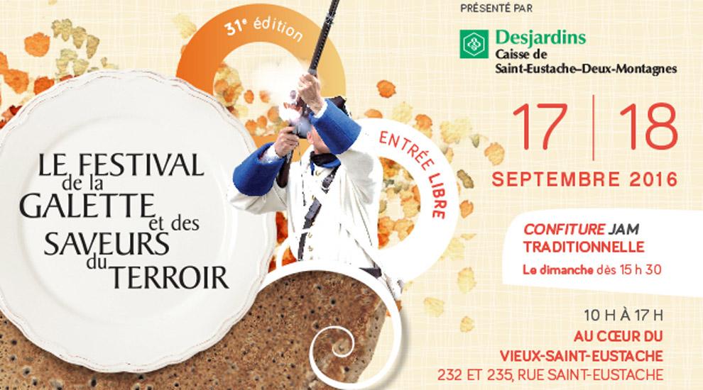 Ville de saint-Eustache - 31e édition du Festival de la galette et des saveurs du terroir