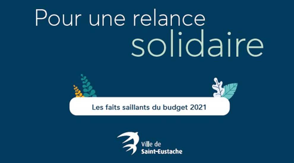 Ville de saint-Eustache - Distribution d'un feuillet «Dossier spécial budget 2021» à Saint-Eustache
