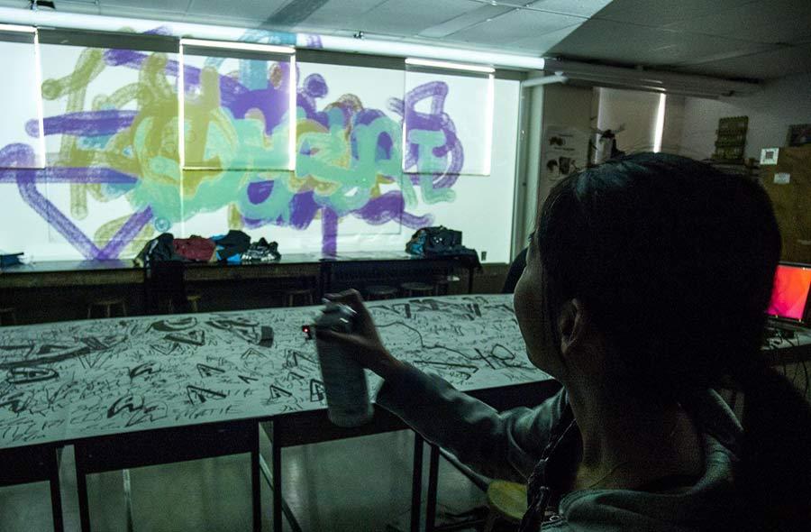Ville de saint-Eustache - Journées de la culture 2021- Graffiti numérique