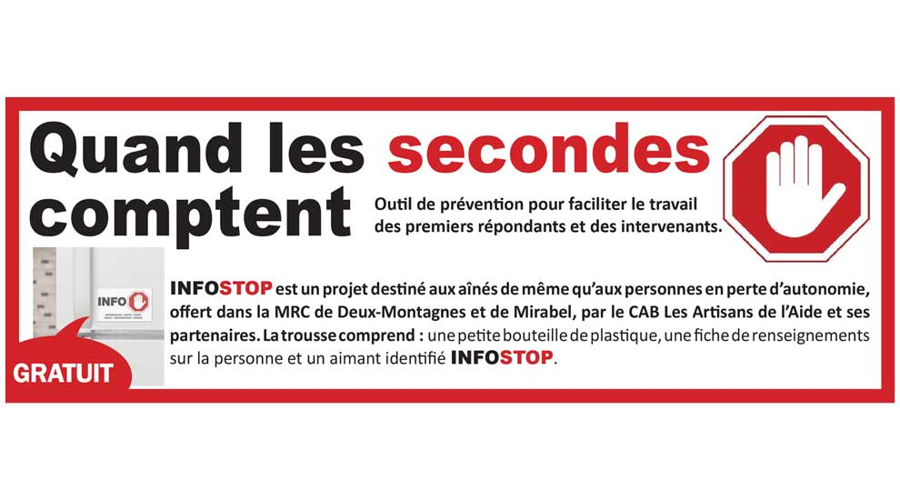 Ville de saint-Eustache - INFO STOP - Un outil de prévention pour la sécurité des aînés et personnes en perte d'autonomie à domicile