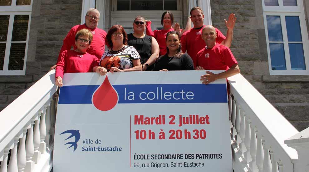 Ville de saint-Eustache - Merci aux généreux donneurs à la collecte de sang de la Ville de Saint-Eustache 2019