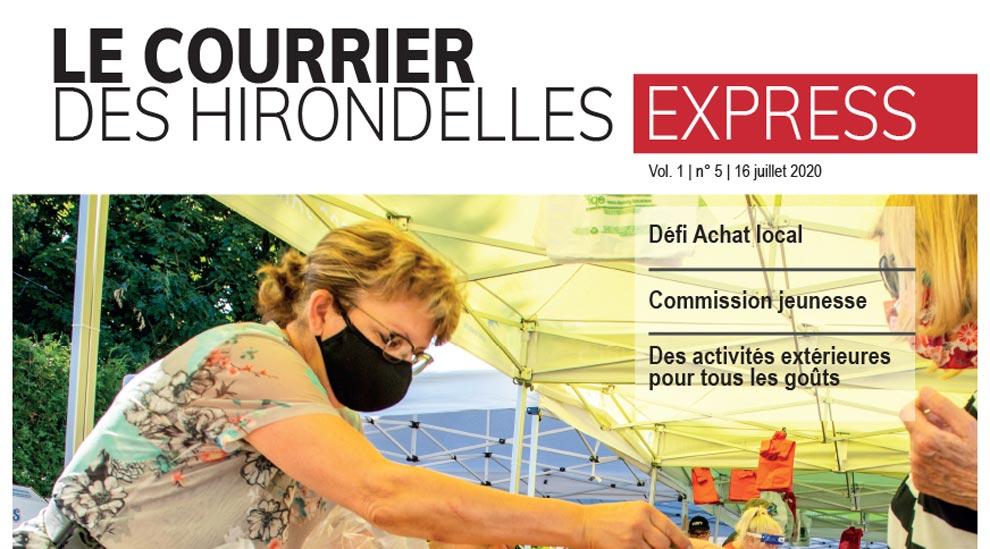 Le Courrier des hirondelles Express, édition du 16 juillet 2020