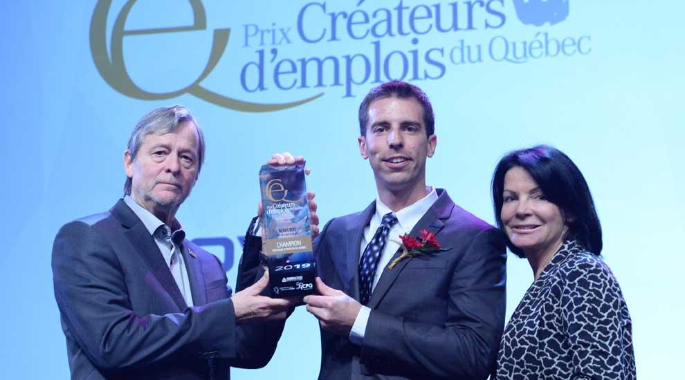 La Ville de Saint-Eustache félicite Nova Bus pour l'obtention du prix «Créateur d'emplois du Québec»