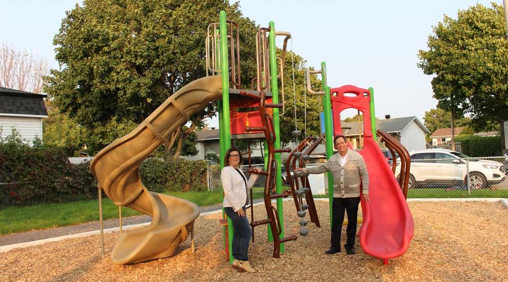 Le parc Paquette doté d'un nouveau module de jeu pour les 5 à 12 ans