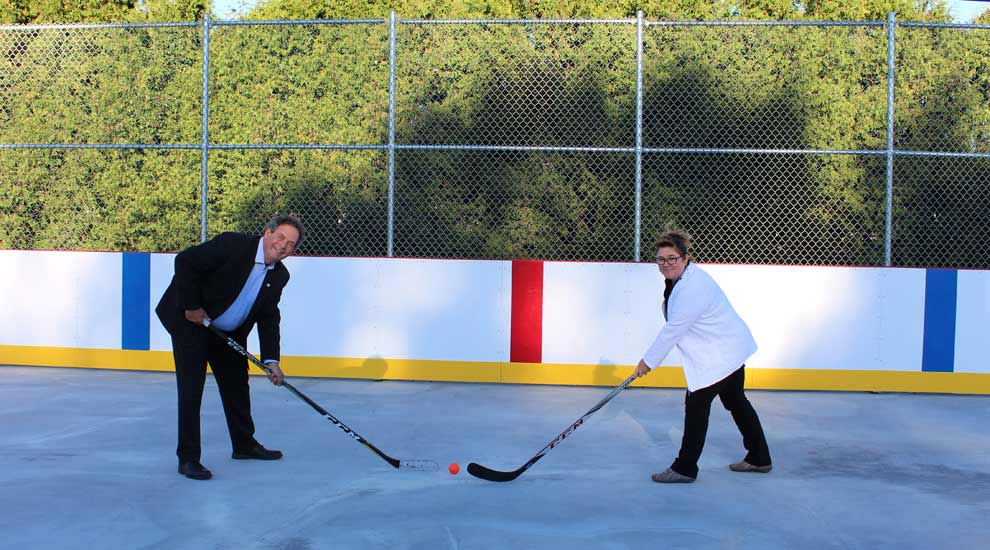 Une nouvelle patinoire permanente au parc Prud'homme