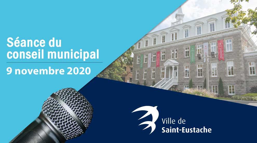 Webdiffusion de la séance ordinaire du conseil municipal du 9 novembre 2020