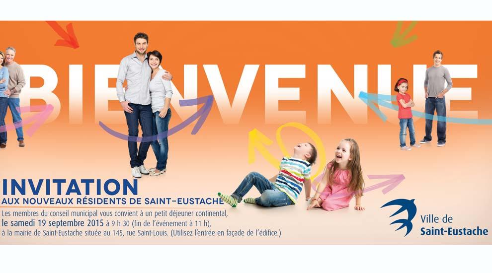 Ville de saint-Eustache - Invitation aux nouveaux résidents de Saint-Eustache