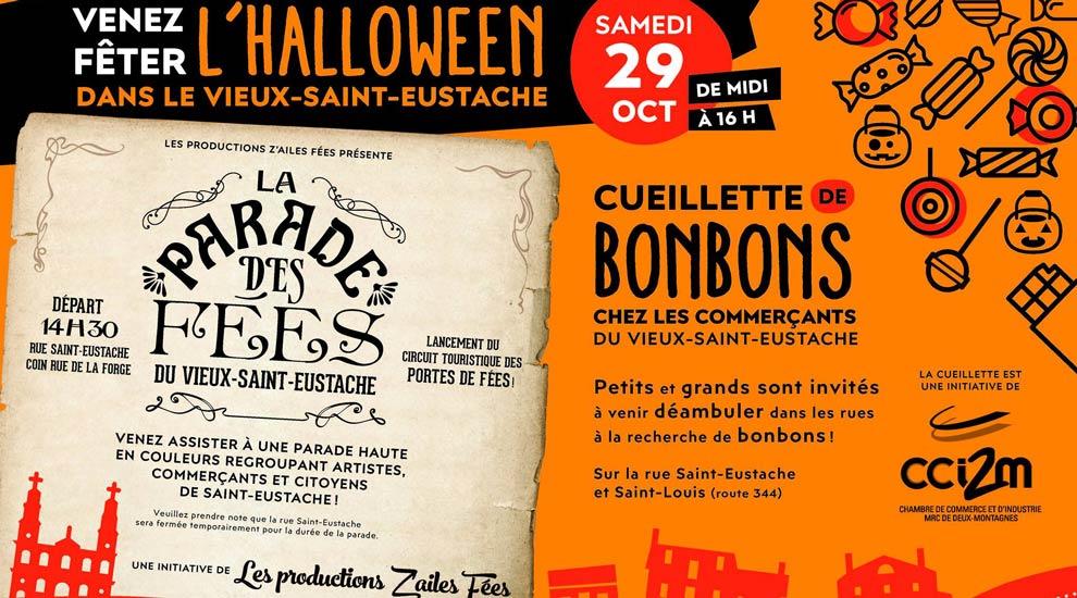 Ville de saint-Eustache - Une partie de la rue Saint-Eustache fermée le 29 octobre de 13 h à 17 h pour la ''Parade des fées''
