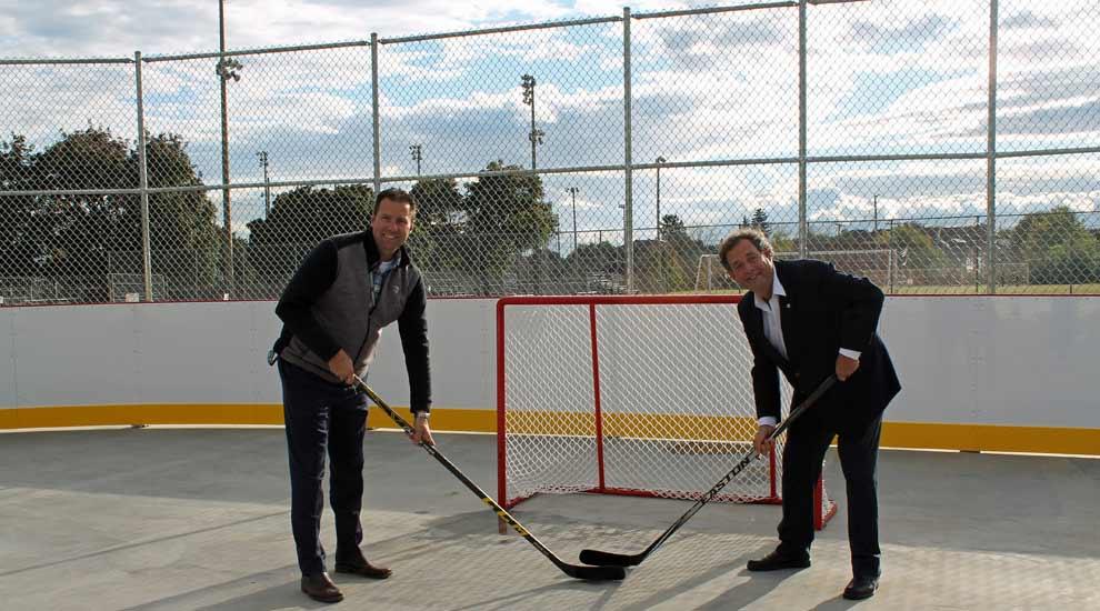 Une nouvelle patinoire permanente au parc Clair Matin