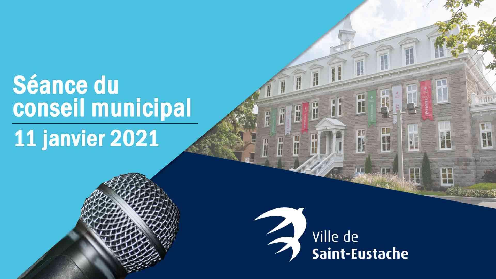 Séance du conseil municipal à huis clos le 11 janvier 2021