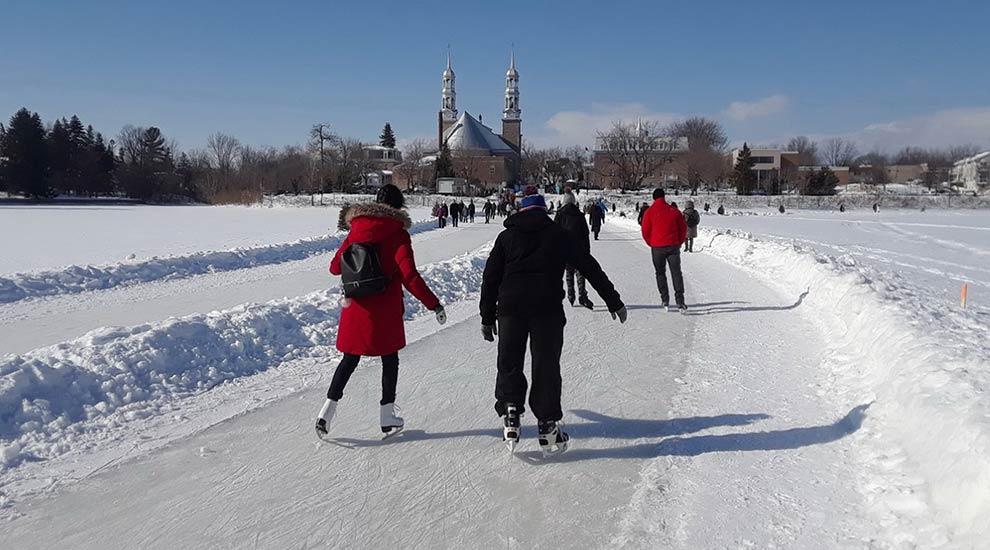 Ville de saint-Eustache - Le sentier de patin Bernard-Besner et le sentier de ski de fond et raquette Richard-Giroux officiellement ouverts!
