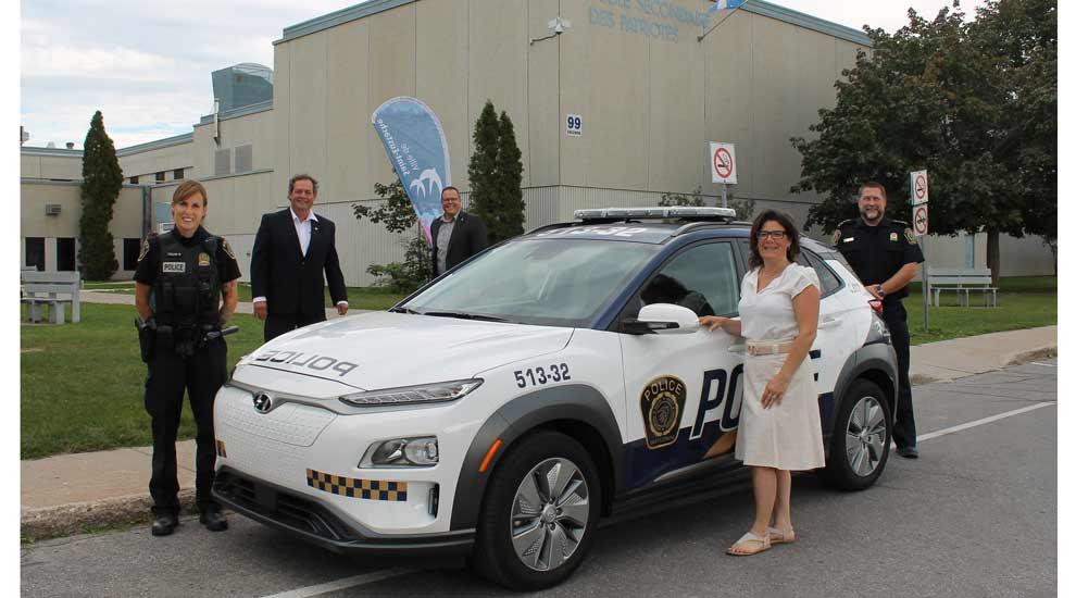 Ville de saint-Eustache - Deux nouveaux véhicules électriques au Service de police de la Ville de Saint-Eustache